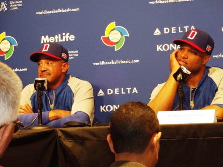 Pregame press conference: Dominican manager Tony Pena, infielder Robinson Cano