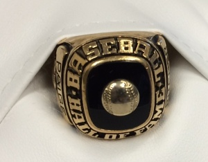 Satchel Paige's Hall of Fame ring that he received upon his induction in 1971.